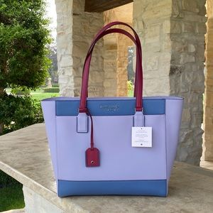 NWT Kate Spade Colorblock laptop leather tote